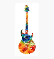 Colorful Electric Guitar 2 - Abstract Art By Sharon Cummings Photographic Print