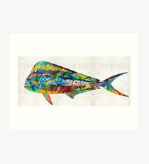 Colorful Dolphin Fish by Sharon Cummings Art Print