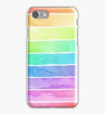 Summer Sorbet Rainbow Stripes iPhone Case/Skin