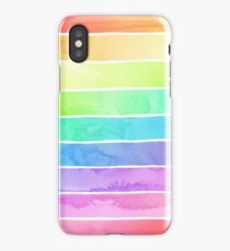 Summer Sorbet Rainbow Stripes iPhone Case