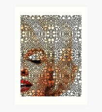 Marilyn Monroe - Sigh - Stone Rock'd Art By Sharon Cummings Art Print