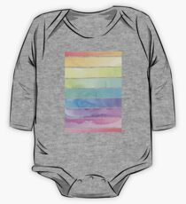 Summer Sorbet Rainbow Stripes One Piece - Long Sleeve