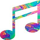 «Rainbow Music Note» de adjsr