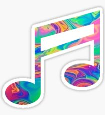 Rainbow Music Note Sticker