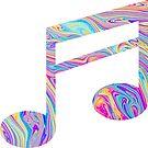 «Rainbow Swirl Music Note» de adjsr
