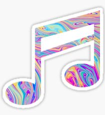 Rainbow Swirl Music Note Sticker