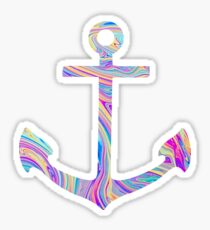 Rainbow Swirl Anchor Sticker