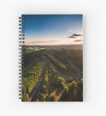 Karussell at Sunset Spiral Notebook