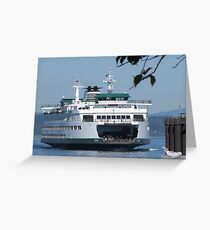 Ferry Puyallup arriving Edmonds Greeting Card