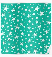 doodle space stars pattern. Poster
