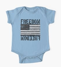 Freedom Black and White US Flag  Kids Clothes