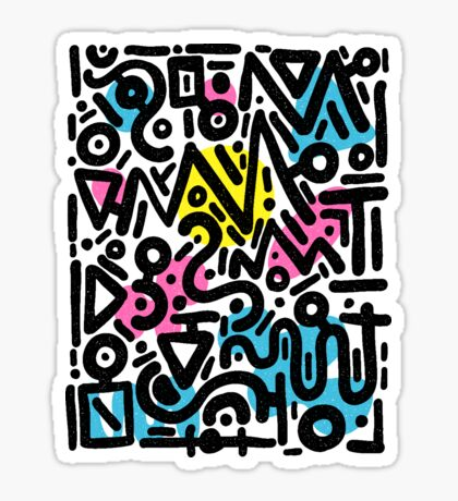 ABSTRACT 4 Sticker