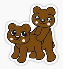 teddies sex poppen fucking funny cuddling couple love love doggy from behind woman man Sticker