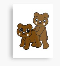 teddies sex poppen fucking funny cuddling couple love love doggy from behind woman man Metal Print