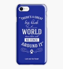 Theres a great big hunk of world down there iPhone Case/Skin