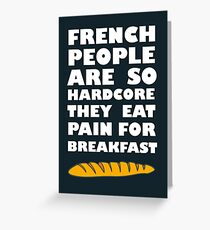 French People Greeting Card