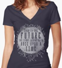 The Lunar Chronicles - Cinder Women's Fitted V-Neck T-Shirt