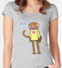 Arse Monkey Women's Fitted Scoop T-Shirt