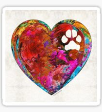 Dog Art - Puppy Love 2 - Sharon Cummings Sticker