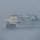 Ferry Hyak in the fog by Zack Heistand