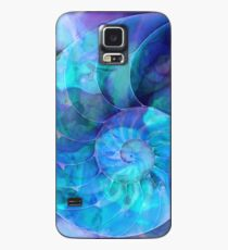 Blue Nautilus Shell By Sharon Cummings Case/Skin for Samsung Galaxy