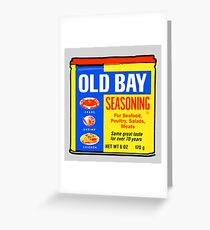 Old Bay Can Greeting Card