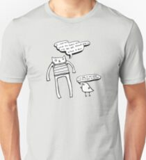 McHammer Cat & the Rapty Bird (with white fill) Unisex T-Shirt