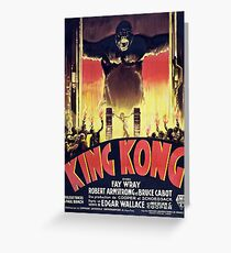 King Kong Greeting Card