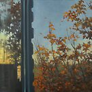 Autumn window view by Vira Kalinovska