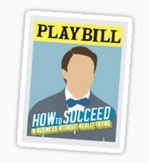 How to Succeed Playbill - DR Sticker