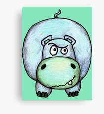 Harry the Hippo Canvas Print