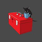Chat and Coffee on a Toolbox by Bryan Moats