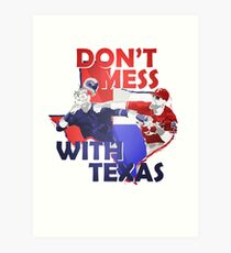 Texas Rangers Punch Art Print