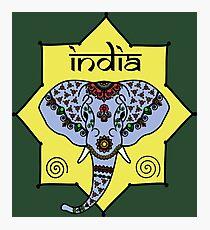 Majestic Elephant - Green Photographic Print