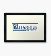 The Daily Show with Jon Stewart Framed Print