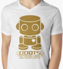 O'BOT: Love is Golden 2.0 Men's V-Neck T-Shirt