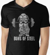 Buns of Steel (Dark) Men's V-Neck T-Shirt