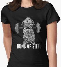 Buns of Steel (Dark) Women's Fitted T-Shirt