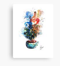 Coffee Over Life Metal Print