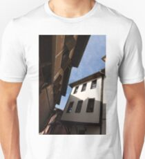 Sun and Shade - Elegant Revival Houses in Old Town Plovdiv, Bulgaria - Vertical T-Shirt