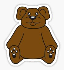 sitting cute little teddy thick sweet cuddly comic cartoon Sticker