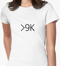 Over 9000! Women's Fitted T-Shirt
