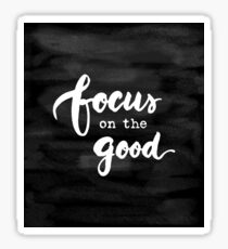 Focus on the Good Chalkboard Writing Sticker