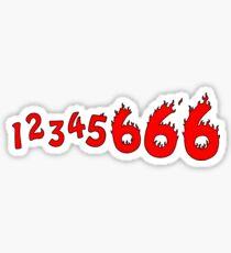 1 2 3 4 5 6 6 6! Sticker