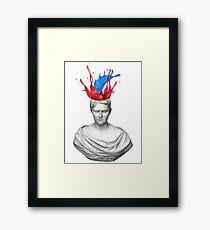 Greek Bust Exploding Head Framed Print