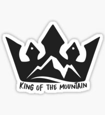 King of the mountain Sticker