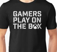 Gamers Play On The Box Unisex T-Shirt