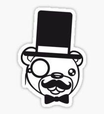 sir mr wall wall hidden text sign face head gentlemen cylinder stock monokel glasses nobility rich funny hat sweet cute comic bear taddy Sticker