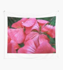 Flowers and drops Wall Tapestry