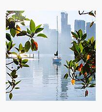 Yacht, Sunrise, East Balmain, Sydney, Australia Photographic Print